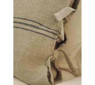 "diy pottery barn style ""vintage"" feed sacks"