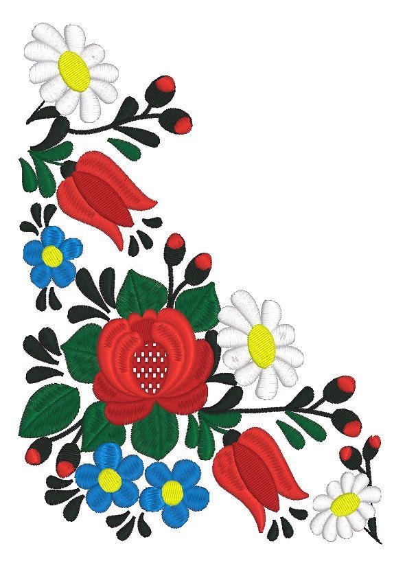 Máquina del bordado diseño arte popular húngaro por RoyalPresentEmb