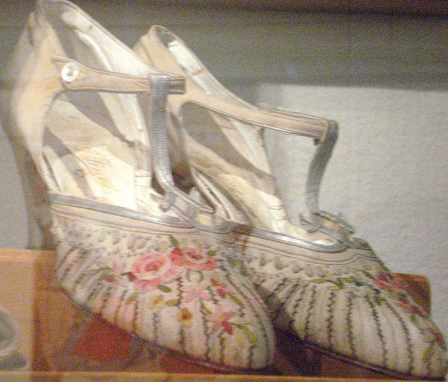 Floral Dress Shoes   c.1920's http://www.flickr.com/photos/g-dzilla/