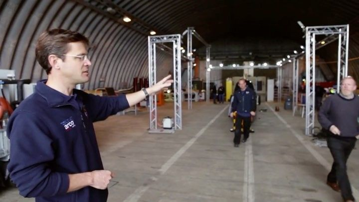 Stuart head of engineering operations gives a tour of our HAS (Hardened Air Shelter) at Newquay airport. Head over to our YouTube Channel to watch the full video #Bloodhound #bloodhoundssc #bloodhoundisgo #newquay2017 #jetengine #ej200 #lsr #landspeedrecord #1000mph #engineer #workshop #bristol #mechanics #stem #supersonic #assembly #technology #innovation #automotive #raf #royalairforce #jaguar #v8 #rollsroyce #engineering #inspiration #nextgeneration