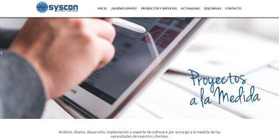 Sitio web Syscon