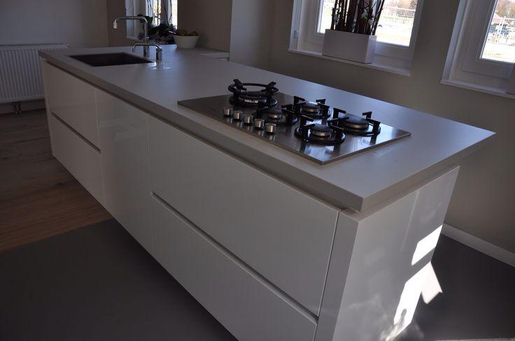 Grijze Keuken Met Wit Blad : Keuken Marmer