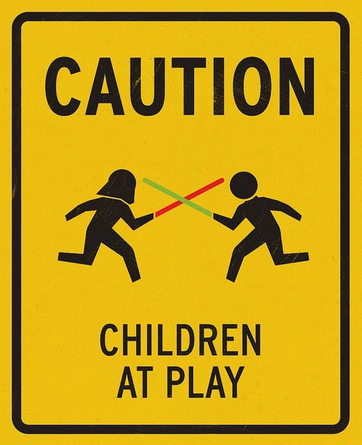 "Star Wars ""Children Playing"" Poster. I would put this in my yard in a heartbeat."