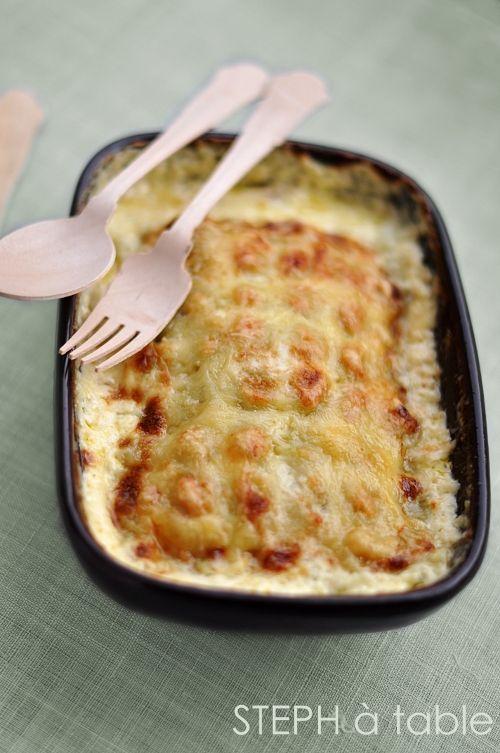 Gratin de ravioles au saumon fumé et courgettes | Steph à table