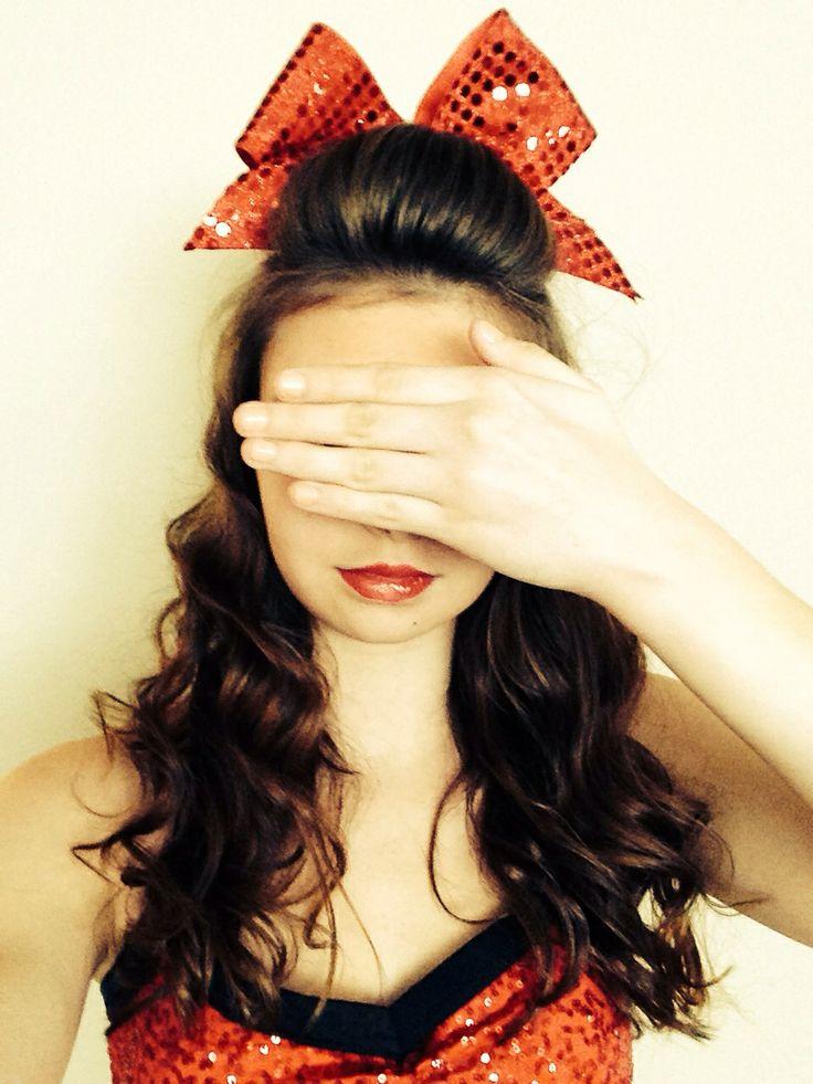 Cheer hair - Angela Jones @Angela Gray Gray Jones