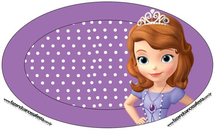 Placa Princesa Sofia da Disney: