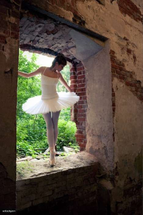 Dilapidated Building Dance Recitals  						Alexey Novikov Captures a Ballerina in an Abandoned Edifice