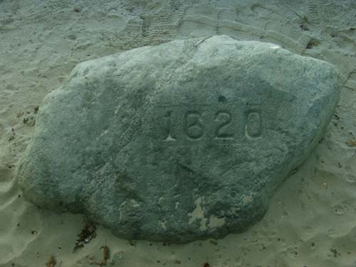 Plymouth Rock: Shown actual size...not really but not far off.  This is near the Mayflower and Plantation.  Boston is my home and it's endless what there is to do in this area.  Rich in history and fun!