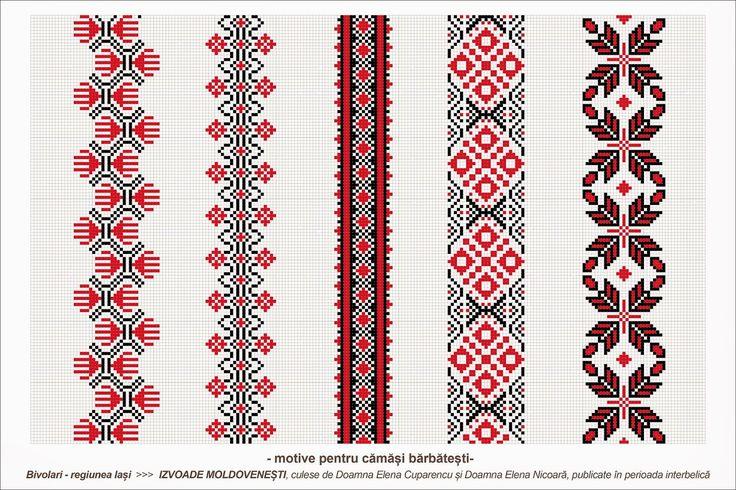 Semne Cusute: Romanian traditional motifs - MOLDOVA - Iasi, Bivolari