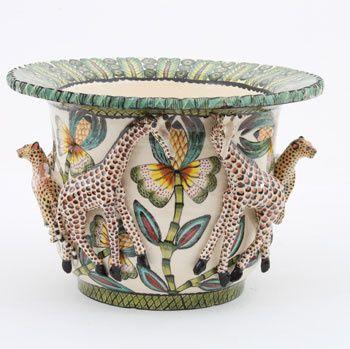 Ardmore Ceramics:  Giraffe Planter