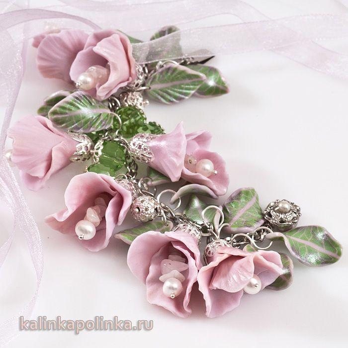 http://kopilka.rv.ua/?p=2085: Глина Цветы 1, Free Tutorials, Clay Beads, Ажурными Шапочками, Fimo Flowers, Fimo Ketten, Polymer Clay, Flowers Beads, Photo