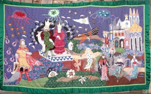 Handmade-Vintage-Quilt-Patchwork-Hand-made-3-20-x1-70