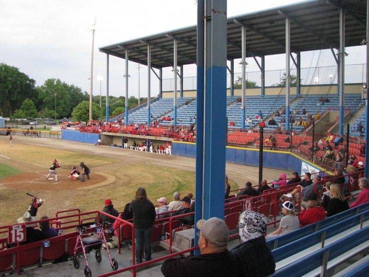C.O. Brown Stadium in Battle Creek, Michigan during a Bombers game in 2011.