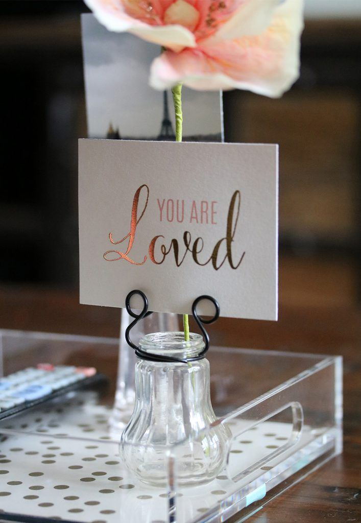 silver heart wedding place card holders%0A Vintage Inspired Pressed Glass Vases with Stationery Holders