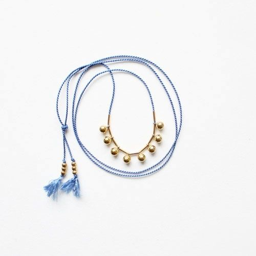 Silk Cord and Sphere Drop Necklace #jewelry: Jewelry Inspiration, Bridesmaid Jewelry, Necklaces Jewelry, Drop Necklaces, Silk Cords Jewelry, Silk Cords Necklaces, Gold Necklaces, Beads Ideas, Sphere Drop