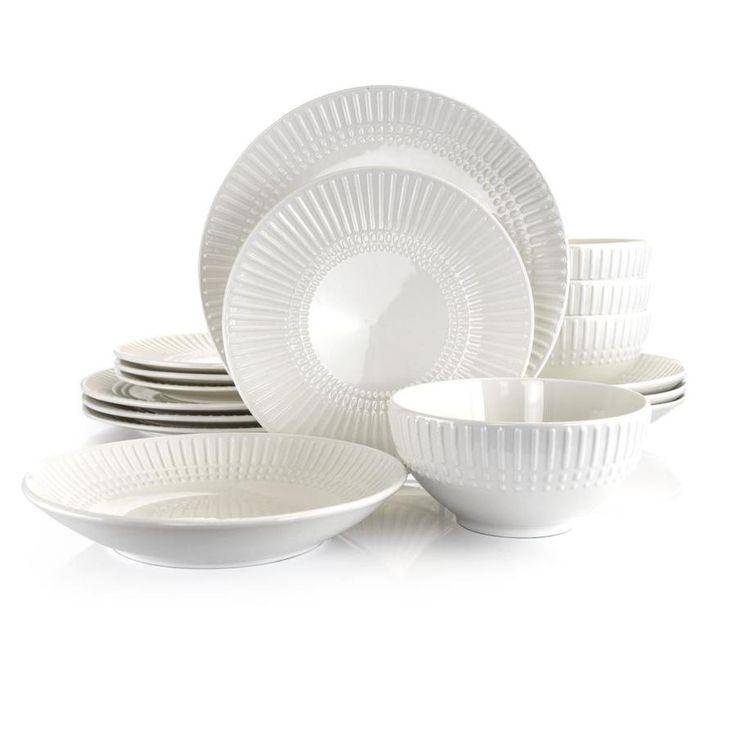 Gibson Home Hagen Square Dinnerware Set In White Set Of 30 Ebay In 2020 Square Dinnerware Set White Dinnerware Set White Dinnerware