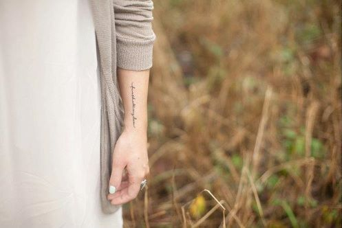I've been looking for a placement for a cursive tattoo. This looks decent.