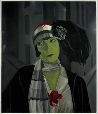 Portret Asta Nielsen (1929) | Pyke Koch | Olieverf op doek | Centraal Museum Utrecht