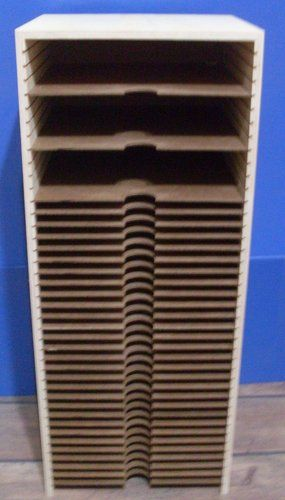 "Scrapbooking Paper Storage 32"" 12x12 40 openings....going to talk very sweetly to the hubby about building one of these into my old computer armoir that I have converted into a scrapbook cabinet"