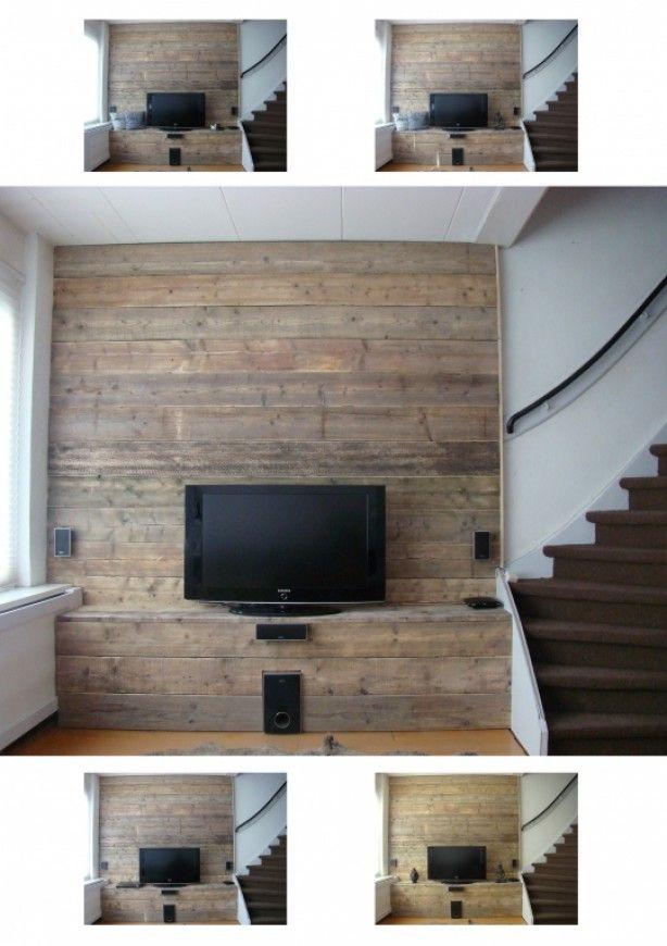 Steigerhouten muur bekleding