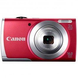 Camera foto digitala CANON A2500, 16 Mp, 5x, 2.7 inch, rosu