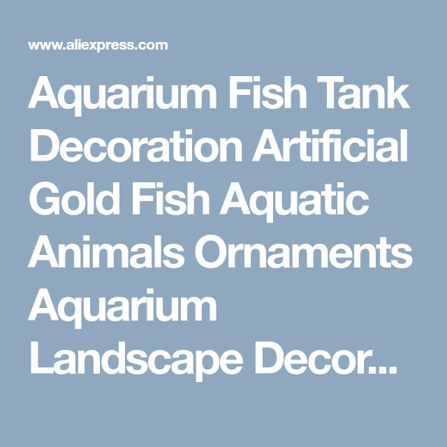Aquarium Fish Tank Decoration Artificial Gold Fish Aquatic Animals Ornaments Aquarium Landscape Decoration-in Decorations from Home & Garden on Aliexpress.com | Alibaba Group