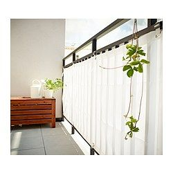 Great for covering ugly fencing too ! .........DYNING Wind-/sunshield - white - IKEA