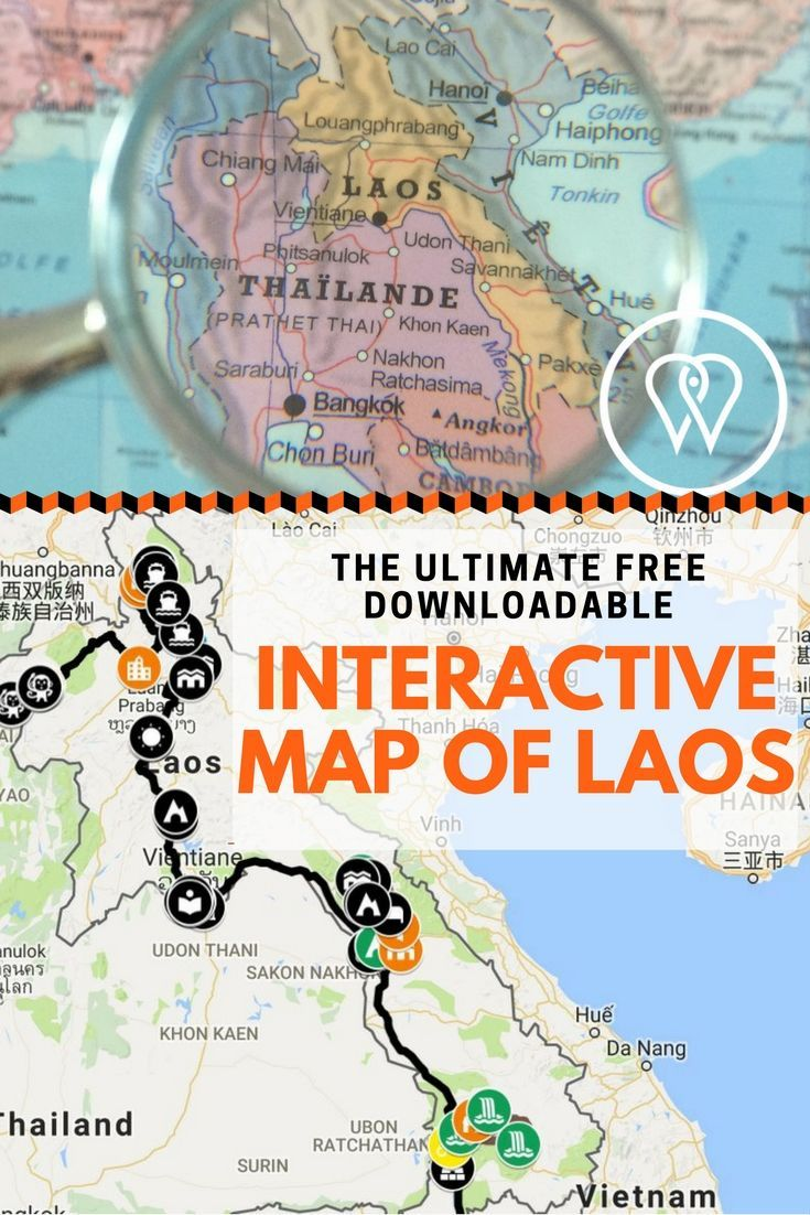 Click on the pin to discover the ultimate guide to help you plan your trip to Laos. From the remote North to the hip Luang Prabang, the hidden caves of Vang Vieng, Laos' adventurous motorbiking loops, stunning temples and lost villages. Our pins lead to inspiring articles, photos and travel tips covering the whole country. Pin, prepare and take-off!