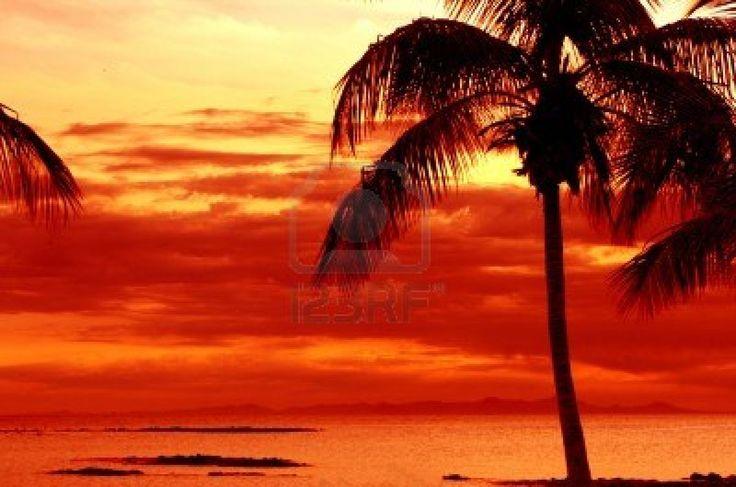 Tropical Island Sun: Tropical Island Sunset