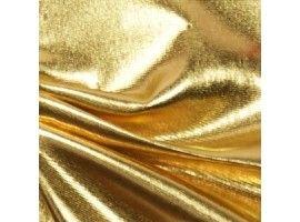 Plavkovina s vysokým leskem (lycra) - zlatá 41-3