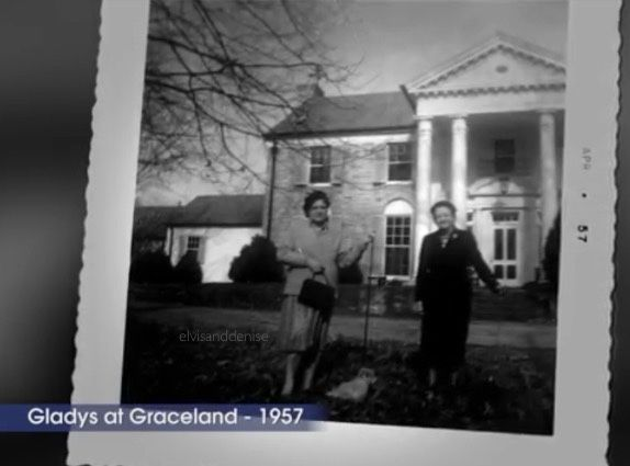 Gladys outside Graceland 1957