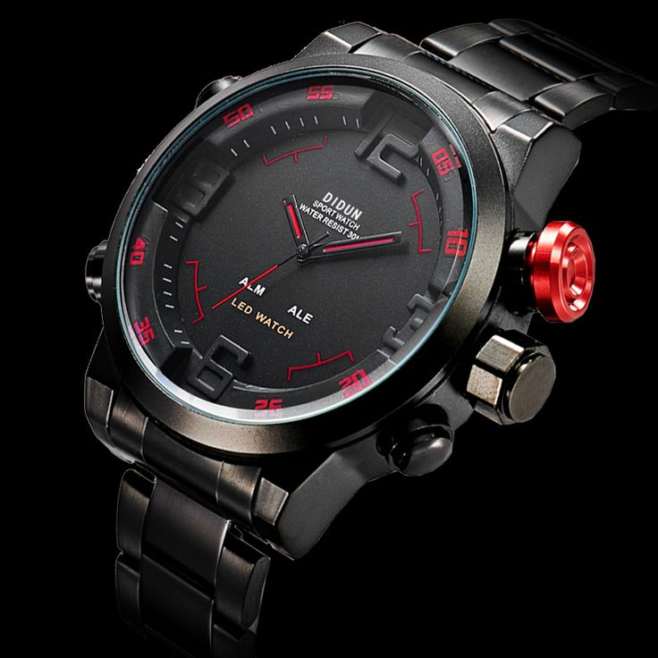 Sports watches for Men Steel Military Quartz Watches Waterproof LED watches men luxury brand Wristwatch Relogio Masculino #CLICK! #clothing, #shoes, #jewelry, #women, #men, #hats, #watches