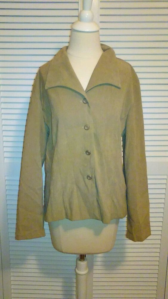 Womens fashion faux suede Dress Barn jacket size 14 in Clothing, Shoes & Accessories, Women's Clothing, Coats & Jackets   eBay