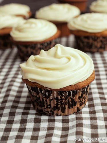 Pumpkin Cupcakes with Bourbon Maple Frosting