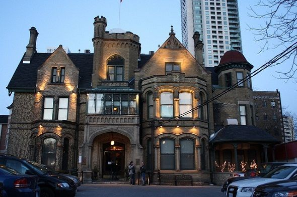 The Keg Mansion Restaurant, Toronto, Canada....yes, it is haunted and the food is grand!