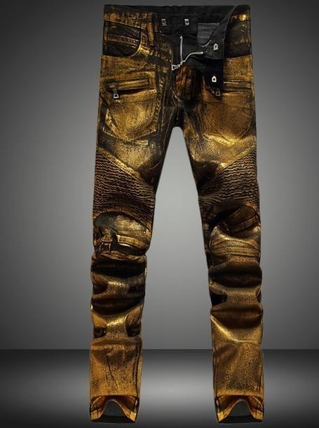 Gold silver England zipper Fold men jeans pants man famous brand 2015 pantalones hombre fashion jeans denim pant mens jeans
