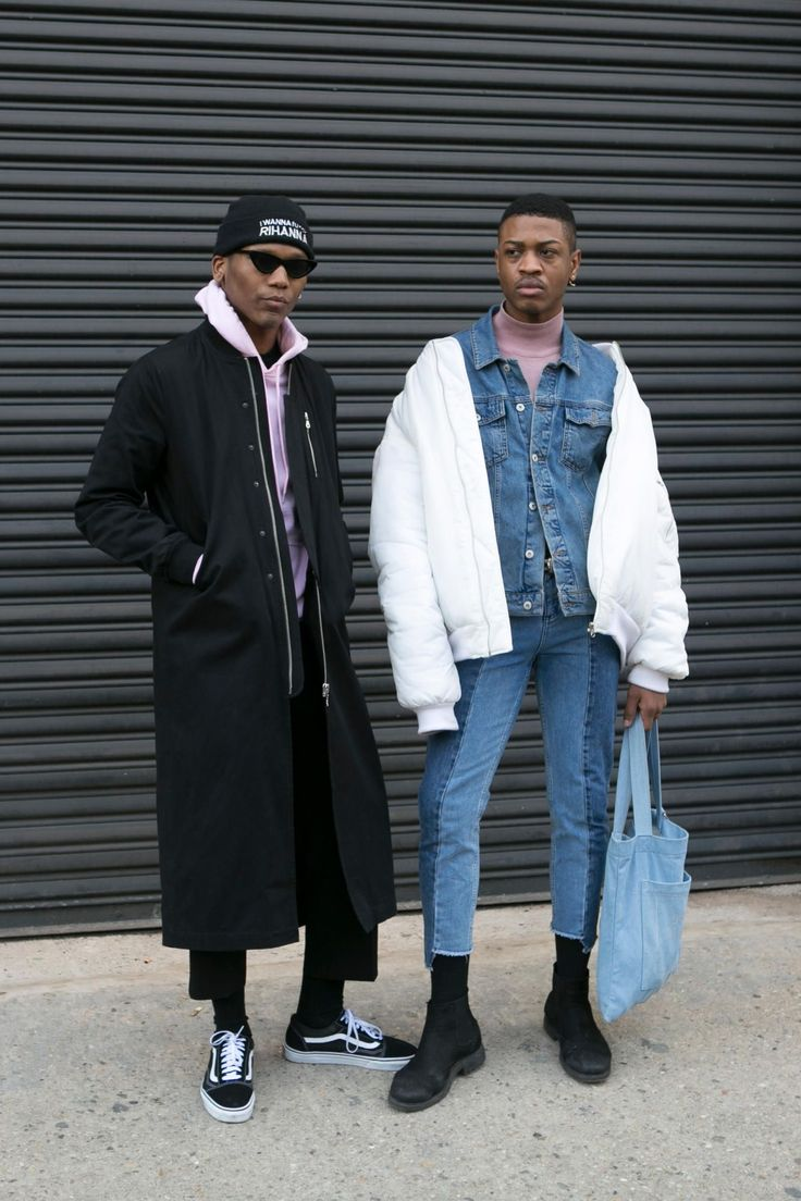 On the street in New York during men's fashion week fall 2017. Photo: Emily Malan/Fashionista.