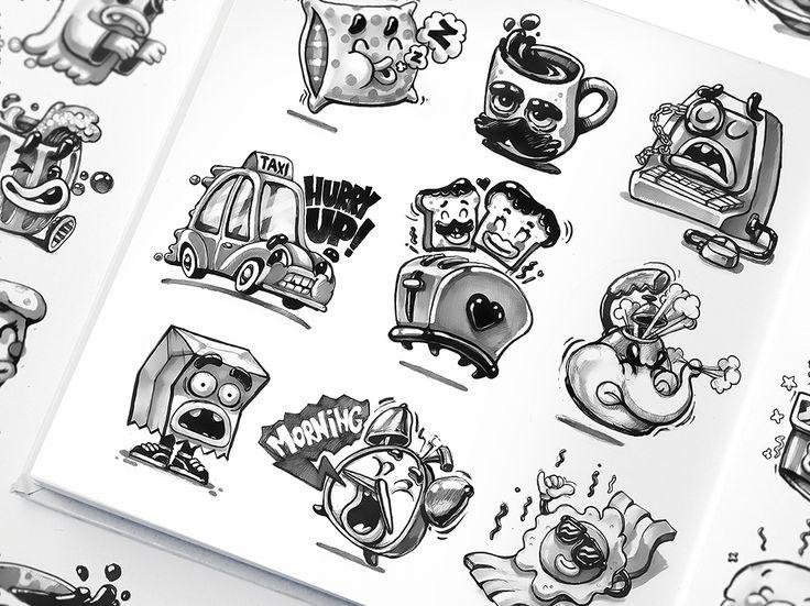 Kik messenger sticker sketches