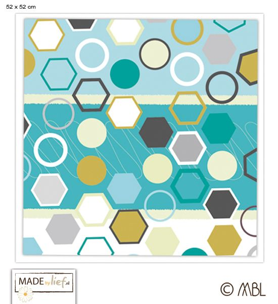 17 beste afbeeldingen over geometric shapes op pinterest moza ekwand vintage bureau en - Kleur schilderij gang ...