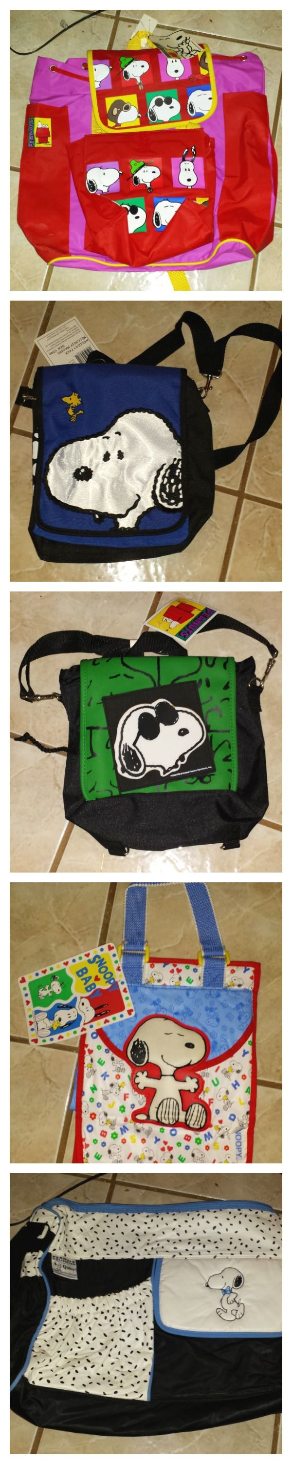 With a little help from my friends... Snoopy is here to help carry your stuff with a variety of fun backpacks, totes and bags. Buy them on SnoopyList.com, the free Peanuts classified ads site.
