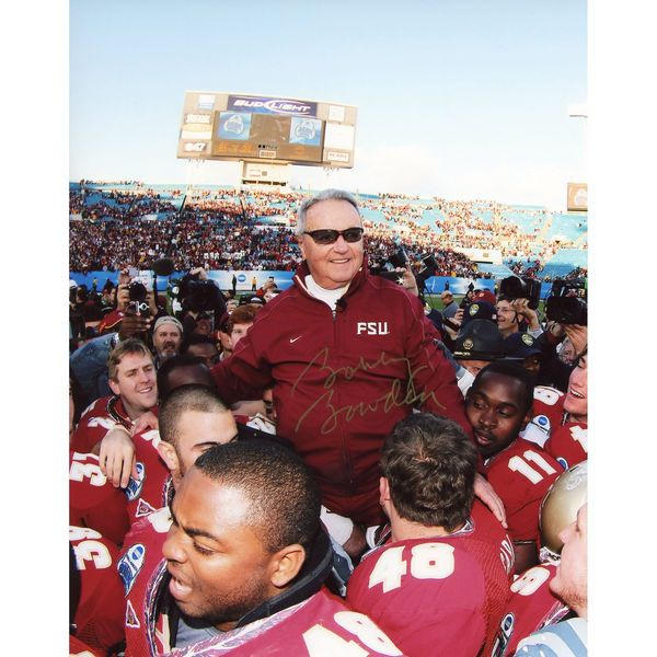 "Bobby Bowden Florida State Seminoles Fanatics Authentic Autographed 8"" x 10"" On Shoulders Vertical Old Photograph - $79.99"