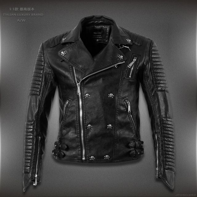 2016 new autumn women's leather jacket fashion brand designer casualleather jacket Skull US $59.99 To Buy Or See Another Product Click On This Link  http://goo.gl/yekAoR