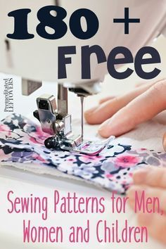 180+ Free Sewing Patterns for Men, Women and Children- Find the perfect sewing patterns for babies, girls, boys, men, and women. Find a pattern or DIY tutorial for whatever sewing idea you have! They are all free!