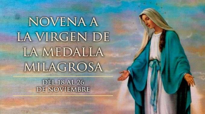 18 de noviembre: Se inicia la Novena a la Virgen de la Medalla Milagrosa