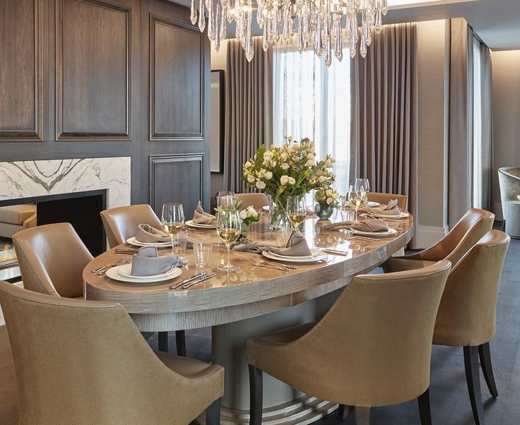 Glamorous Dining Area In Our Chelsea Apartment Project