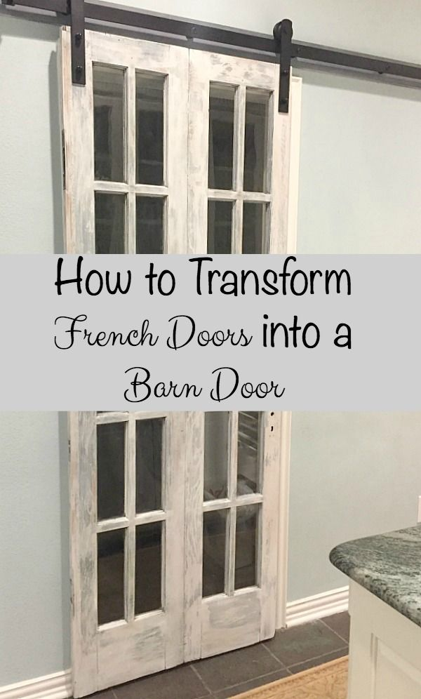 See how easy it is to transform a door you have on hand, purchase or build into a barn door for your home.