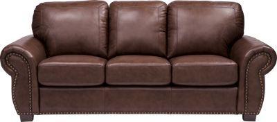 Balencia Dark Brown Leather Sofa