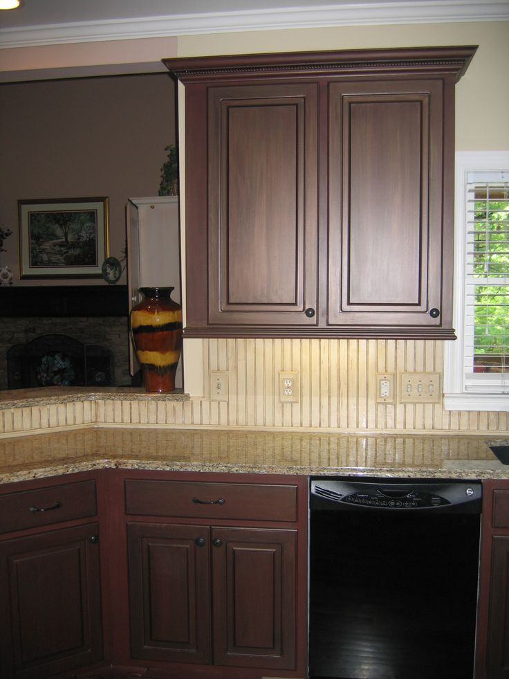Painted cabinets beadboard backsplash kitchen concepts for Beadboard kitchen cabinets