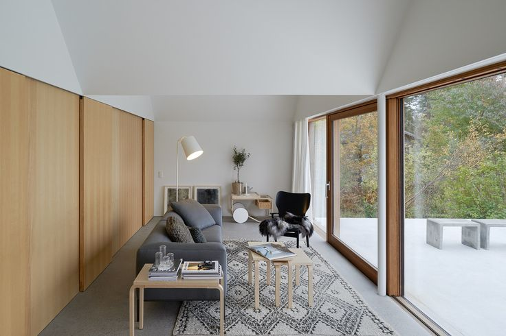 House Design Connected to Natural Landscape: Summerhouse Lagnö : Summerhouse Lagno By Tham & Videgard Arkitekter – Living Room Area