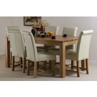 Galway Solid Oak Funiture Range 6ft Dining Table Set